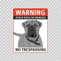 Warning Attack Dog On Premises. No Trespassing 12877