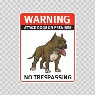 Warning Attack Dog On Premises. No Trespassing 12878