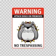Warning Attack Dog On Premises. No Trespassing 12880