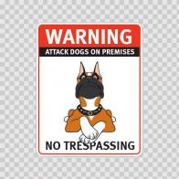 Warning Attack Dog On Premises. No Trespassing 12882