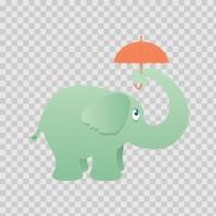 Elephant With Umbrella 13010