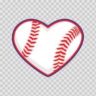 Baseball Heart 13309