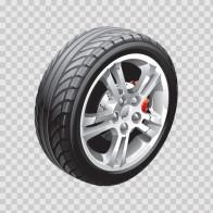 Wheel With Brakes 13358