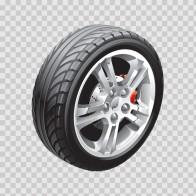 Wheel With Brakes 13359