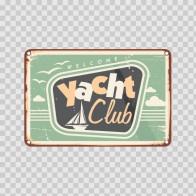 Vintage Yacht Club Sign 13953