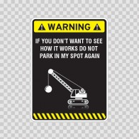 Warning Parking Sign 14026