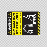Warning Sign Funny Stay Away From My Dj Decks 14029