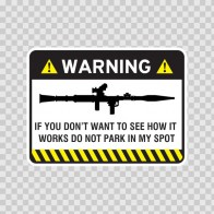 Warning Parking Sign 14048