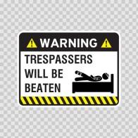 Warning Trespasser Sign 14050