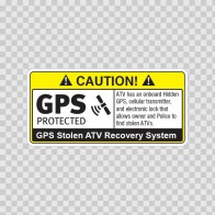 Gps Protected Prevention Sign Atv 14063