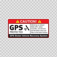 Gps Protected Prevention Sign Vehicle 14069