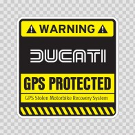 Gps Protected Prevention Sign Ducati 14075