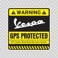 Gps Protected Prevention Sign Vespa 14079
