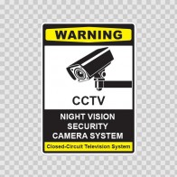 Cctv Night Vision Camera Sign 14129