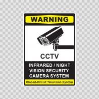 Cctv Infrared Night Vision Camera System Sign 14130