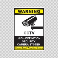 Cctv High-Definition Cameras Sign 14131