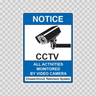 Notice All Activities Monitored  Cctv 14134