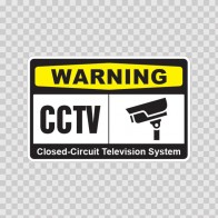 Warning Cctv Video Surveillance 14140