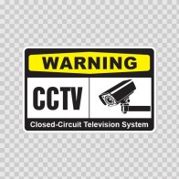 Warning Cctv Video Surveillance 14144
