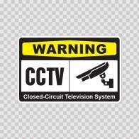 Warning Cctv Video Surveillance 14146