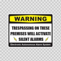 Trespassing On These Premises Will Activate Silent Alarms 14160