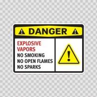 Danger Explosive Vapors No Smoking  No Open Flames No Sparks 14213