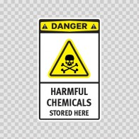 Danger Harmful Chemicals Stored Here 14234