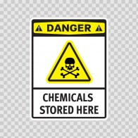Danger Chemicals Stored Here 14235