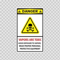 Danger Vapors Are Toxic Avoid Exposure To Vapors Wear Proper Personal Protective Equipment 14237