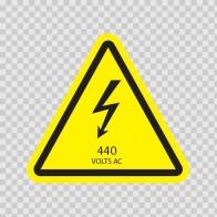 Danger High Voltage 440 Volts Ac 14283