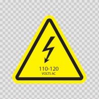 Danger High Voltage 110-120 Volts Ac 14285