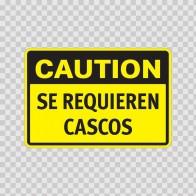 Caution Se Requieren Cascos 14309