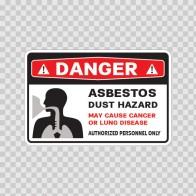 Danger This Area Contains Miscellaneous Asbestos Materials... 14373