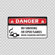 Danger No Smoking Or Open Flames When Charging Batteries 14381