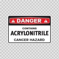 Danger Contains Acrylonitrile Cancer Hazard 14398