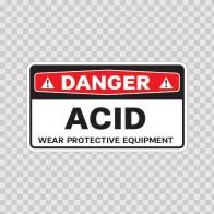 Danger Acid Wear Protective Equipment 14455