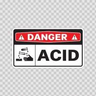Danger Acid Wear Protective Equipment 14456