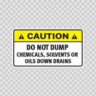 Caution Do Not Dump Chemicals, Solvents Or Oils Down Drains. 14484