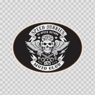 Speed Junkies Moto Club Sign 14747