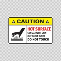Caution Hot Surface Contact With Skin May Cause Burns Do Not Touch 18558