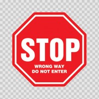Stop Wrong Way Do Not Enter 18722
