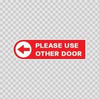 Please Use Other Door W/ Left Arrow 18797