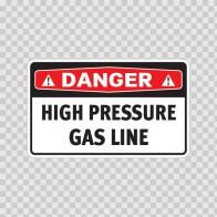 Danger High Pressure Gas Line 19090