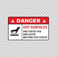 Danger Hot Surfaces. Only Enter This Area After Machine Has Cooled. 19386