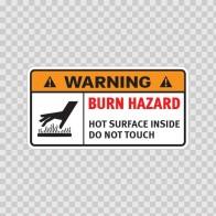 Warning Burn Hazard. Hot Surface. Do Not Touch. 19392