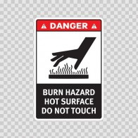 Danger Burn Hazard. Hot Surface. Do Not Touch. 19398