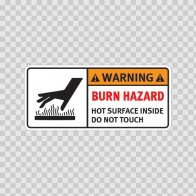 Warning Burn Hazard. Hot Surface Inside. Do Not Touch.  19403