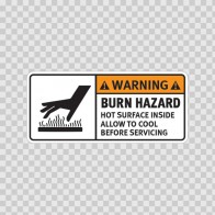 Warning Burn Hazard. Hot Surface Inside. Allow To Cool Before Servicing. 19404