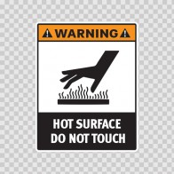 Warning Hot Surface. Do Not Touch. 19407