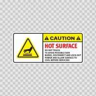 Caution Hot Surface. Do Not Touch. To Avoid Possible Skin Burns, Disconnect.. 19413